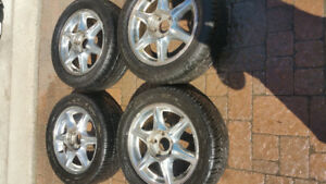 4 new sport summer tires with mags on size 225/50zR16