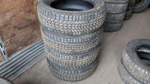 Set of 4 Firestone Winterforce 225/60R18 WINTER tires (85% tread
