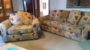 Matching sofa and chair set for sale