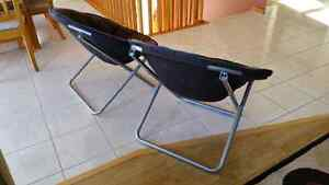 2 Black moon chairs for sale
