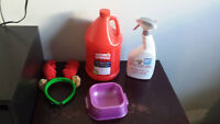 dog jacket, stain and odor remover & misc. items