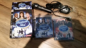 American Idol karaoke encore 1 and 2 with microphone for ps3