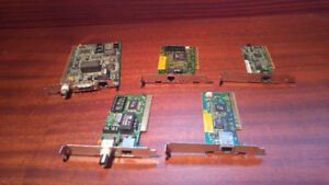 Miscellaneous PC cards: Network,Video ...