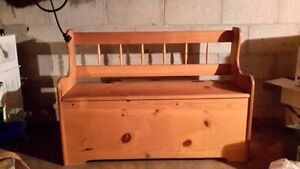 DEACONS BENCH SOLID PINE WITH SEAT STORAGE