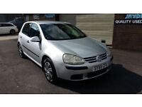 2005 55 VOLKSWAGEN GOLF 1.6 S FSI 115BHP ONLY 60000 MILES WITH SERVICE HISTORY.