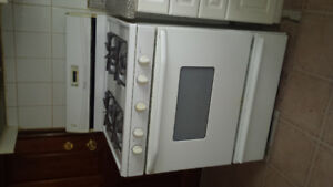 Maytag white gas stove
