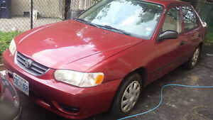 2002 Toyota Corolla only 180kms A/C & PW Locks