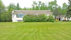 Private Lakefront home on acreage with town water & sewer!