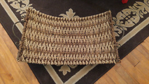 Wicker firewood holster for $7
