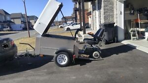 electric scooter and trailer