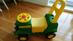 John deere push and ride