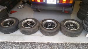 Mag oz et pneus 225/60/VR15 étais sur mustang 88
