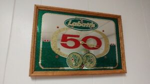 Labatt 50 Bar Sign Clock Circa 1970's