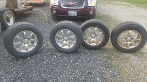 """16"""" Chevy rims and tires"""