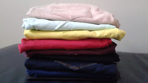 BACK TO SCHOOL :  8 pairs of jeans & 1 pair pleather pants