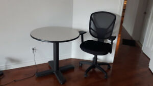 Office table and chair for sale