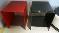 TEMPERED GLASS TABLES IN 2 DIFFERENT SIZES AND 3 DIFFERENT COLOR