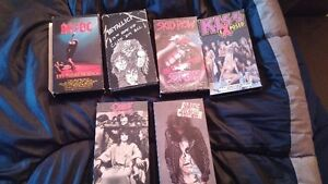 Rock vhs tapes