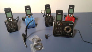 Set of 5 phones Vtech and bluetooth headset