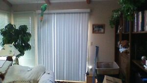Vertical blinds off white colour draw and open function