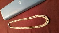 Vintage Double Strand Genuine Pearl Necklace