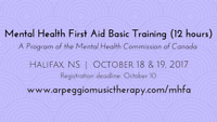 Mental Health First Aid Basic Training - Halifax, Oct. 18 & 19