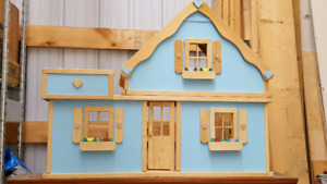Solid wood doll house.