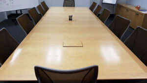 "Conference / Boardroom table...like new, solid maple, 60"" x 162"""
