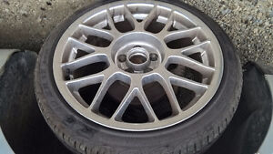 """VW fitment Rare BBS RC 17"""" 5x100 Rims and Pirelli Tires"""