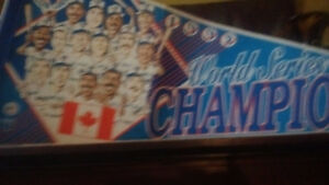 1992 WORLD SERIES CHAMPIONS BLUEJAYS PENNANT