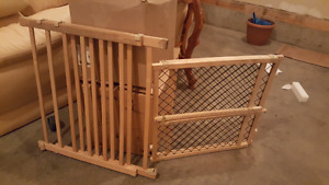Two wooden stairs gate