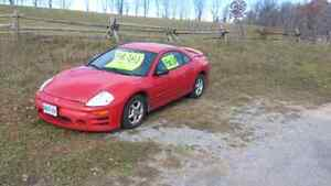 mitsubishi eclipse 2003 with 2 sets of tires on rims Peterborough Peterborough Area image 3