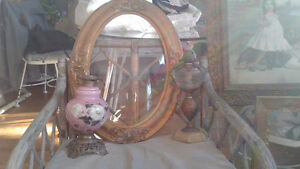 Georgeuos victorian bubble glass oval frames.