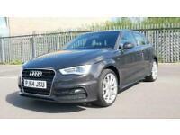 2014 Audi A3 1.4 TFSI 150 S Line 5dr S Tronic Auto Hatchback petrol Automatic