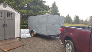 6x12 enclosed trailer with side door, side ramp and rear ramp