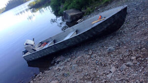 14ft aluminum boat with motor