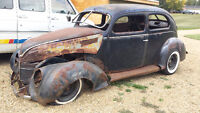 1938 Ford 2 door for parts or lawn art