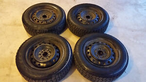 WOW!!! HERCULES AVALANCHE X-TREME SNOW TIRES ON 5X114.3 TOYOTA