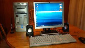 HP Computer and Monitor
