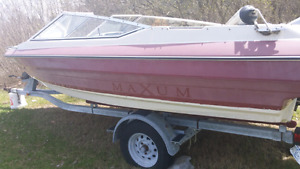 18 ft bow rider with 100hp