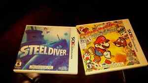 3ds games,  steel diver and paper Mario sticker star
