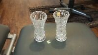 2 small crystal vases for sale