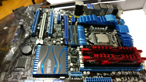 Mother board, CPU, Ram, and water cooling