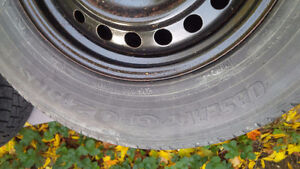 4 TOYO Observe G-02 Plus tires on Honda winter rims...