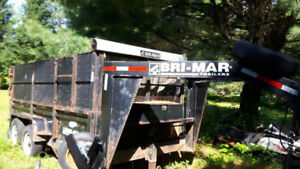 14 ft brimar goose neck dump trailer