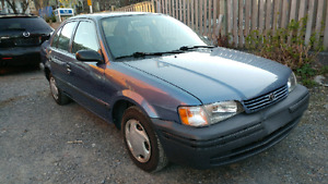 Toyota tercel low mileage