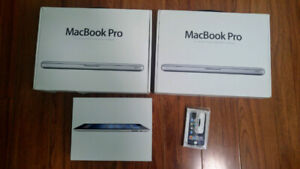 """4 Apple Product Boxes 13"""" MacBook Pro Laptop  iPad iPod Touch"""