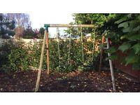 Plum swing set