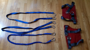 Sailing Harnesses and tethers, excellent condition.