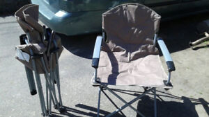 Folding Camp Chairs, Two for $20, Like NEW
